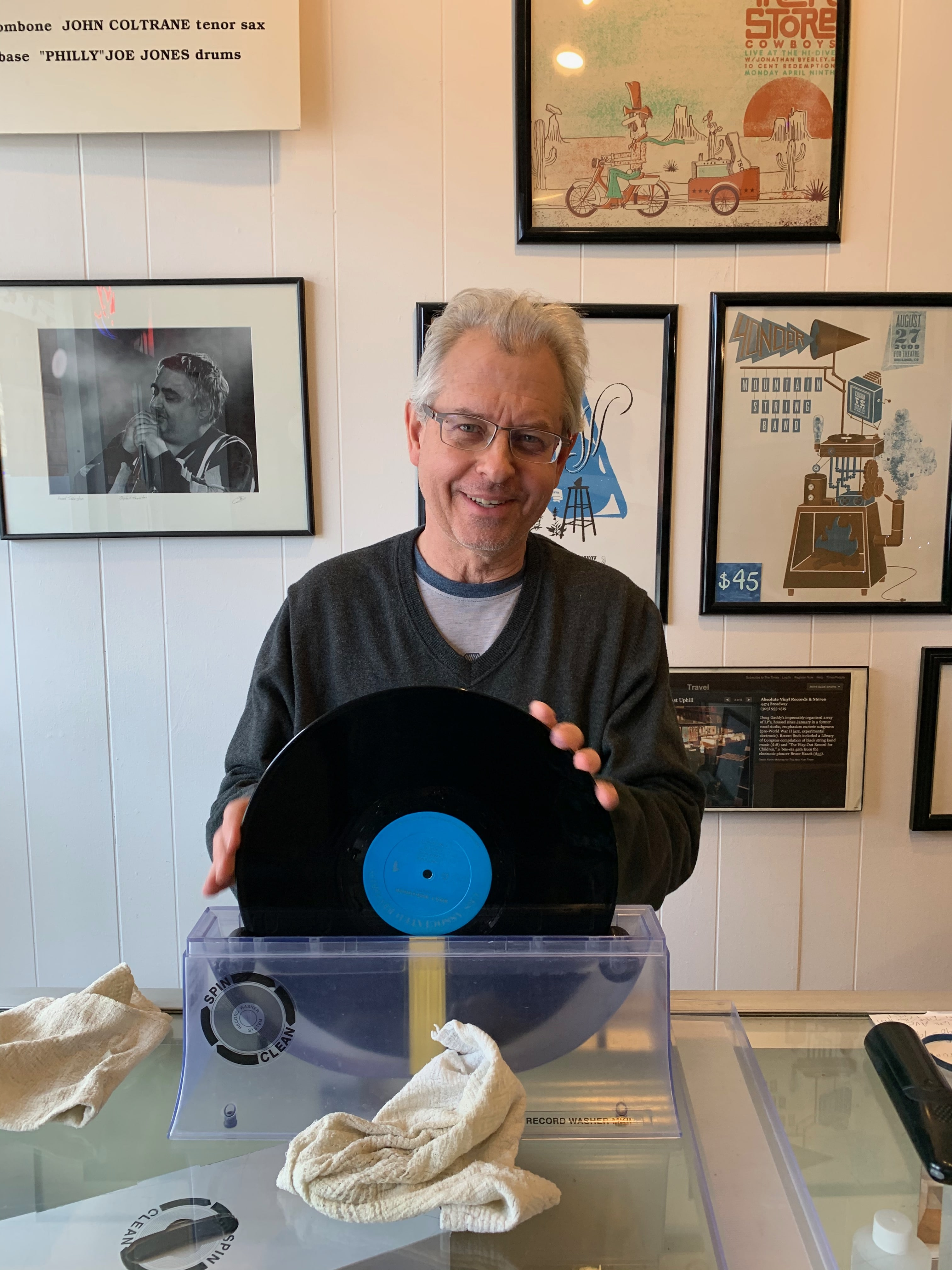 Doug Gaddy of Absolut Vinyl in Longmont, Colorado